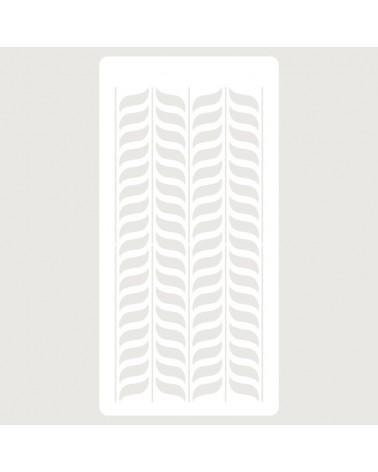 Stencil Scrapbooking 096 Espigas