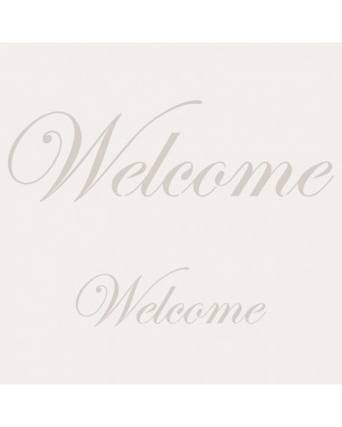 Stencil Texto 001 Welcome