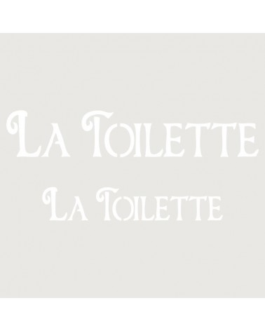 Stencil Texto 002 La Toilette