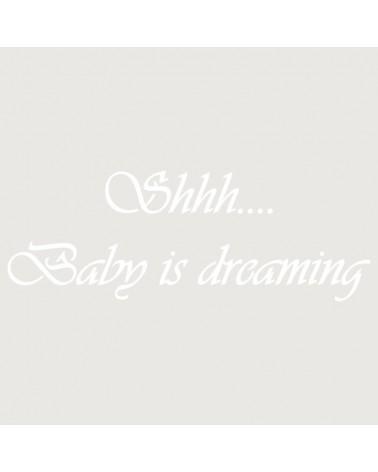 Stencil Texto 007 Shhh Baby