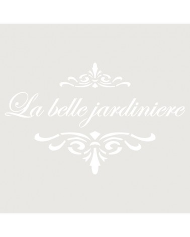 Stencil Texto 015 La Belle Jardin