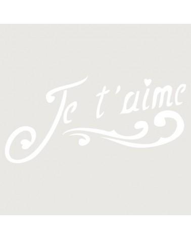 Stencil Texto 021 Je Te Aime