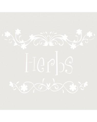 Stencil Texto 024 Herbs