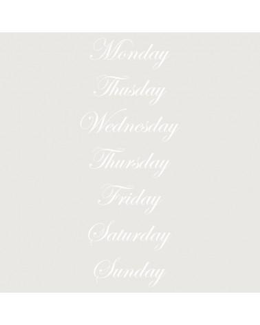 Stencil Texto 027 Monday...
