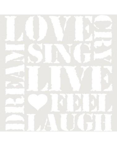 Stencil Texto 042 Love