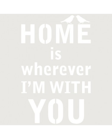 Stencil Texto 043 Home is