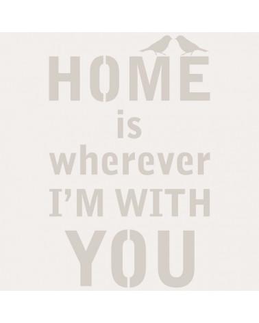 Stencil Texto 043 Home is