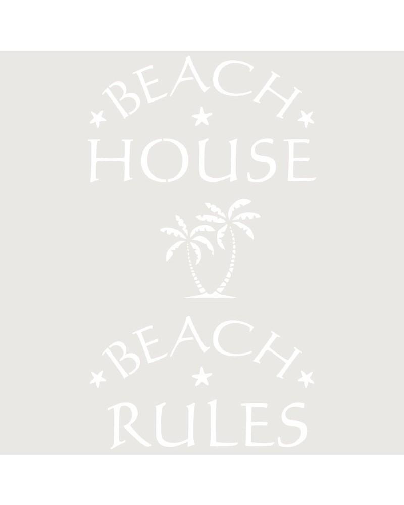 Stencil Texto 045 Beach House