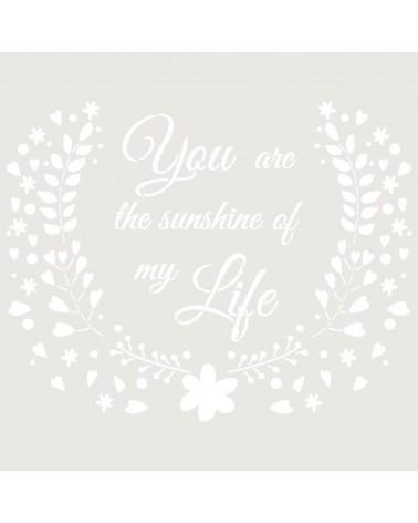 Stencil Texto 046 Sunshine