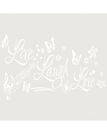 Stencil Texto 049 Live Laugh Love