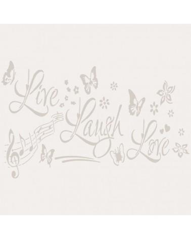 Stencil Texto 049 Live Laugh Love