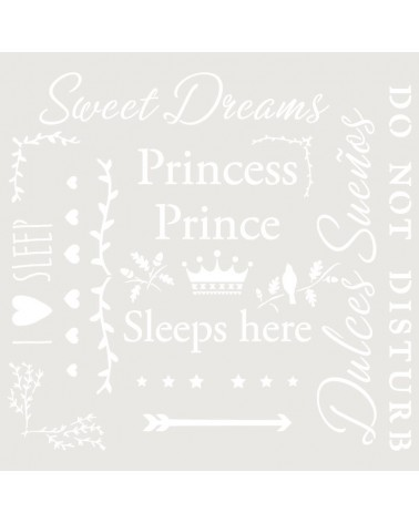 Stencil Texto 050 Sweet Dreams Princess