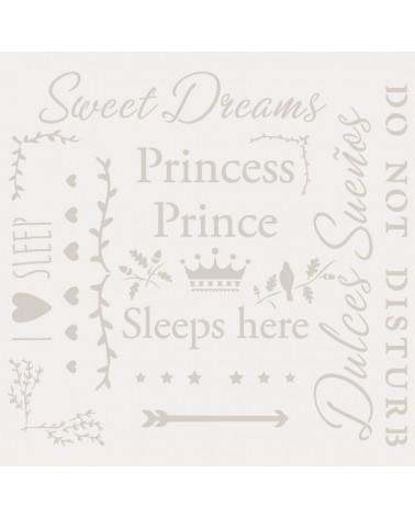 Stencil Texto 050 Sweet Dreams Princess