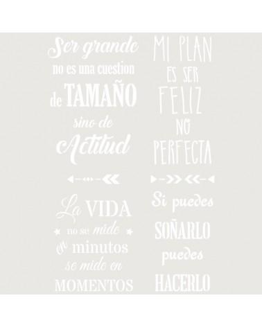 Stencil Texto 052 Frases Positivas
