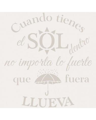 Stencil Texto 053 Sol Lluvia