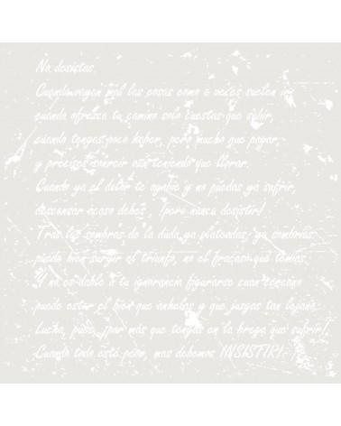 Stencil Texto 059 No desistas