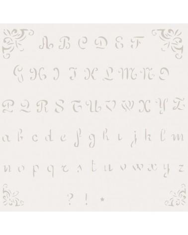 Stencil Mini Abecedario 002