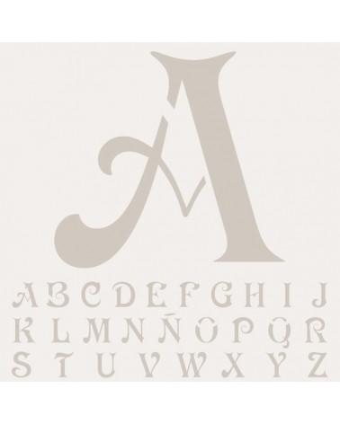 Stencil Mini Abecedario 010