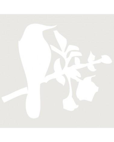 Stencil Animales 004 Pajaro En Rama