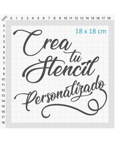 crea tu stencil personalizado 20x20cm