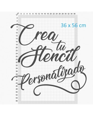 crea tu stencil personalizado 40x60cm