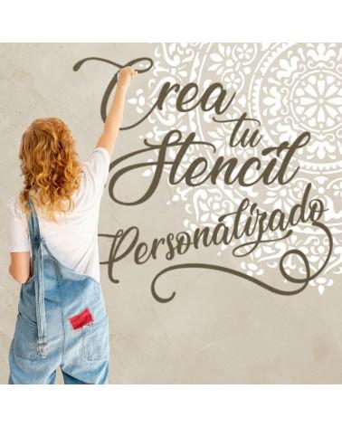 crea tu stencil personalizado 50x50cm
