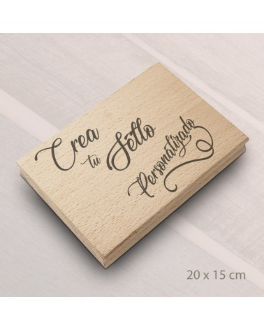 Design Your Own Rubber Stamp 20x15cm