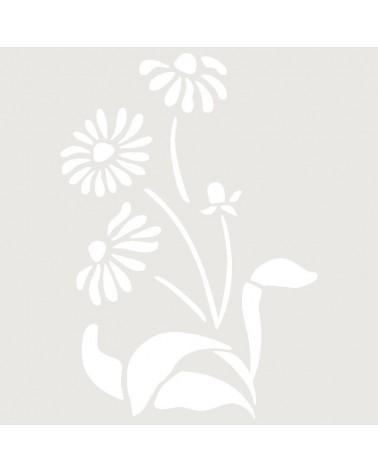 Stencil Aerografia Tattoo Floral 037