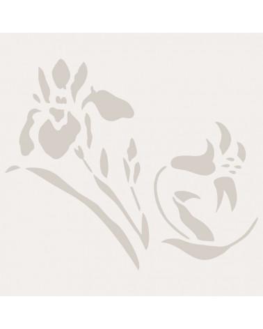 Stencil Aerografia Tattoo Floral 028