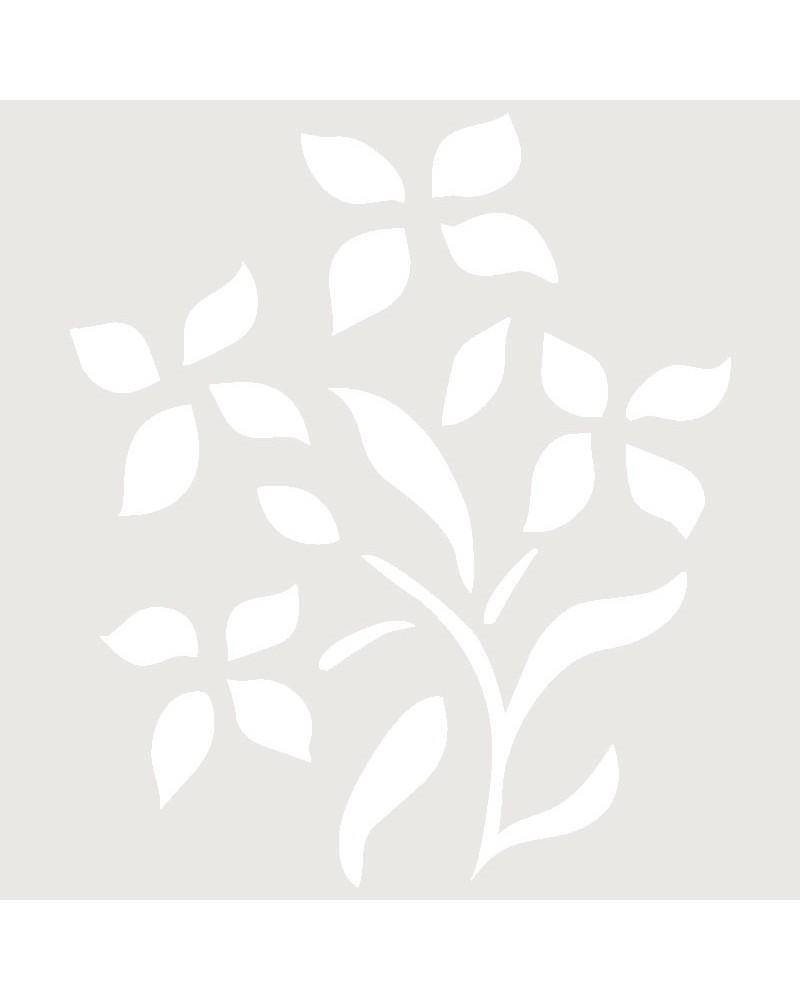 Stencil Aerografia Tattoo Floral 027