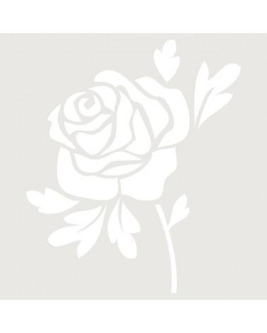 Stencil Aerografia Tattoo Floral 018