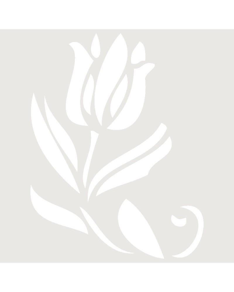 Stencil Aerografia Tattoo Floral 016