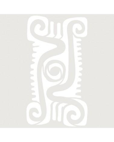 Stencil Aerografia Tattoo Mayas 009