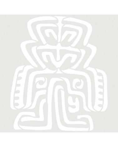Stencil Aerografia Tattoo Mayas 007