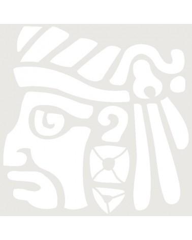 Stencil Aerografia Tattoo Mayas 003