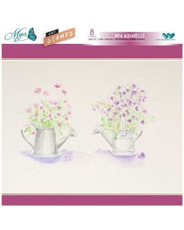 Aquarelle Markers and Watering Cans Stamp Set
