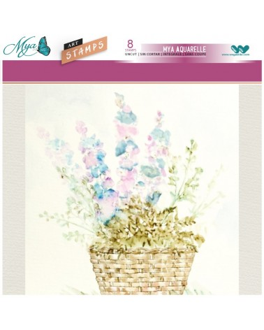 Aquarelle Markers and Basket Stamp Set