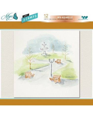 Aquarelle Markers and Park Stamp Set