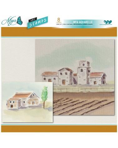Aquarelle Markers and Vineyard Stamp Set