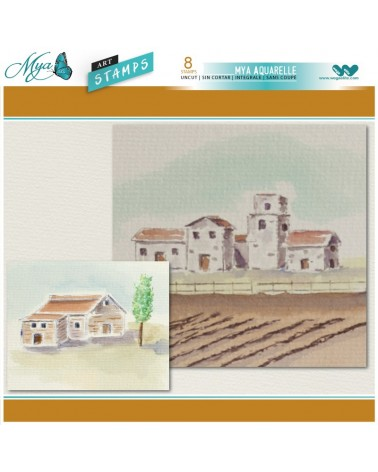 Aquarelle Markers and Vineyard Stamp Set
