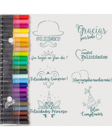 Aquarelle Markers and Congratulations Stamp Set
