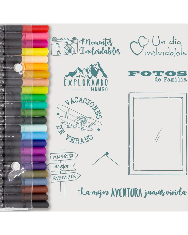 Aquarelle Markers and Travels Stamp Set