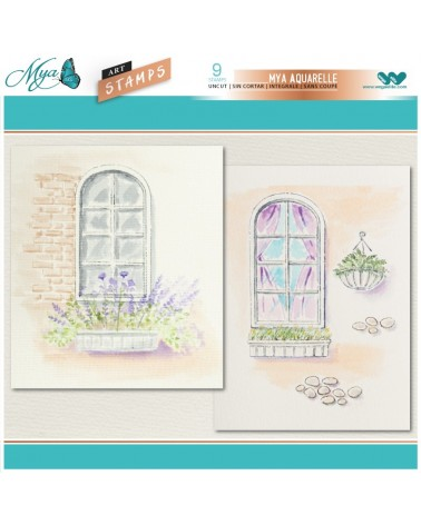 Aquarelle Markers and Windows Stamp Set