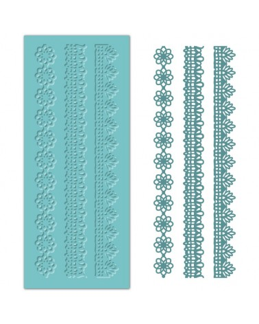 Silicone Mold MYA 041 Laces