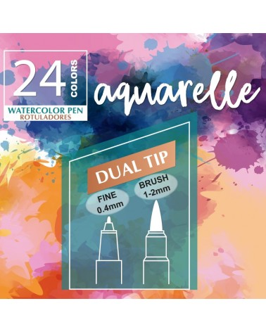 Rotuladores Aquarelle MYA set 24un