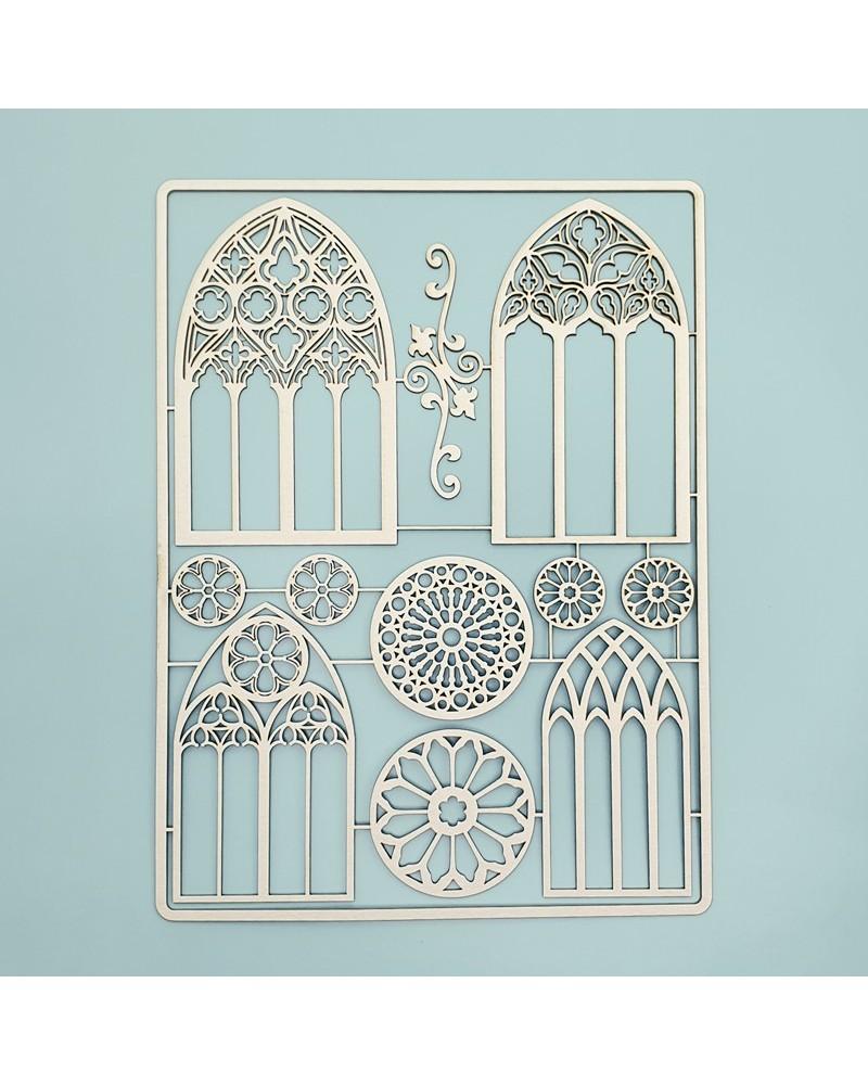 Set Siluetas Cartón 027 Arquitectura Gótica