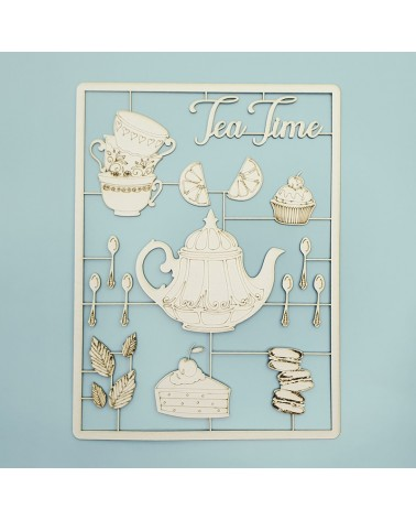 Cardboard Silhouette Set 031 Tea Time