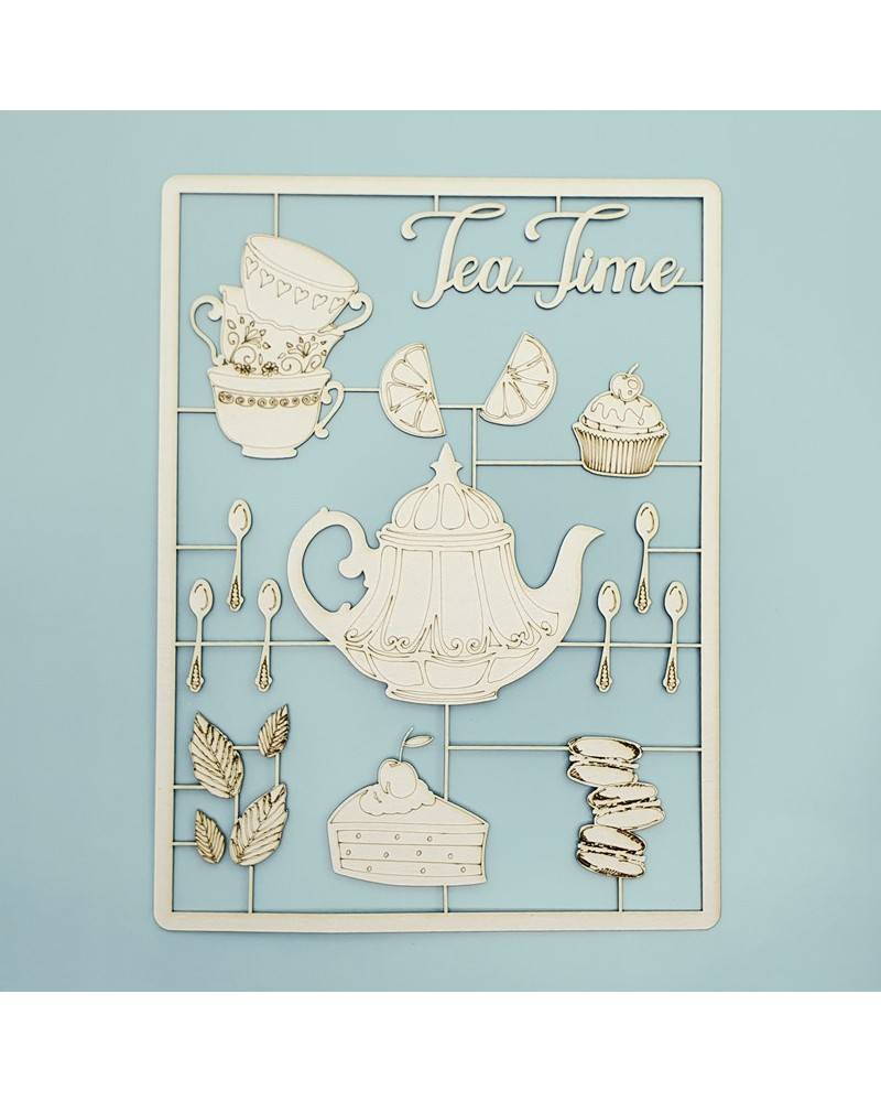 Set Siluetas Cartón 031 Tea Time