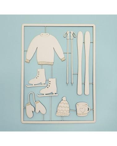Cardboard Silhouette Set 032 Winter