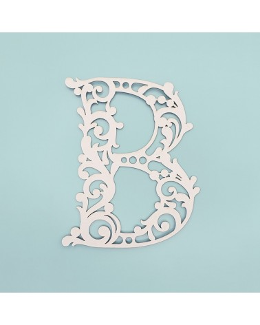 Letra Cartón 001 Floral B